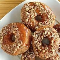 Caramel-Bourbon-Pecan Doughnuts