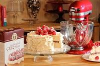 White Celebration Cake-Raspberries